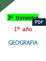 3º Trimestre, 1º Año. Geografia