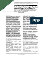 Ingresos hospitalarios por hemorragia digestiva alta por antiinflamatorios no esteroidicos