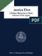 President Trump Budget Blueprint - Fiscal Year 2018
