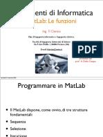 Le Funzioni in Matlab(l12)