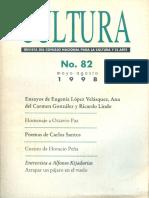 Revista Cultura Nº82, 1998