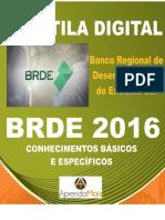 APOSTILA BRDE 2017 ANALISTA DE PROJETOS ENGENHARIA CIVIL + BRINDES