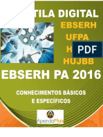 APOSTILA EBSERH UFPA 2016 PSICÓLOGO HOSPITALAR + BRINDES