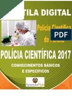 APOSTILA POLÍCIA CIENTÍFICA PR 2017 PERITO ÁREA 6 + BRINDES