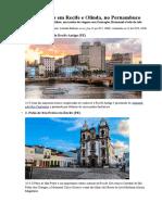 Roteiro - 48 Horas Em Recife e Olinda, No Pernambuco