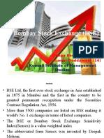 Bombay Stock Exchange(BSE)