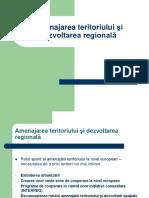 1 Amenajarea teritoriului ¦i dezvoltarea regionalp