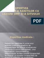 Expertiza medicala a ranitilor cu leziuni OMF si a gitului