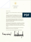 POTUS' birthday letter to Ray Chavez