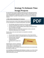 Effective Strategy to Estimate Time for Your Design Projects