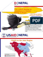 Sharing of USAID Assistance to Climate Change in Nepal