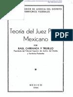 Teoría de Juez Penal Mexicano