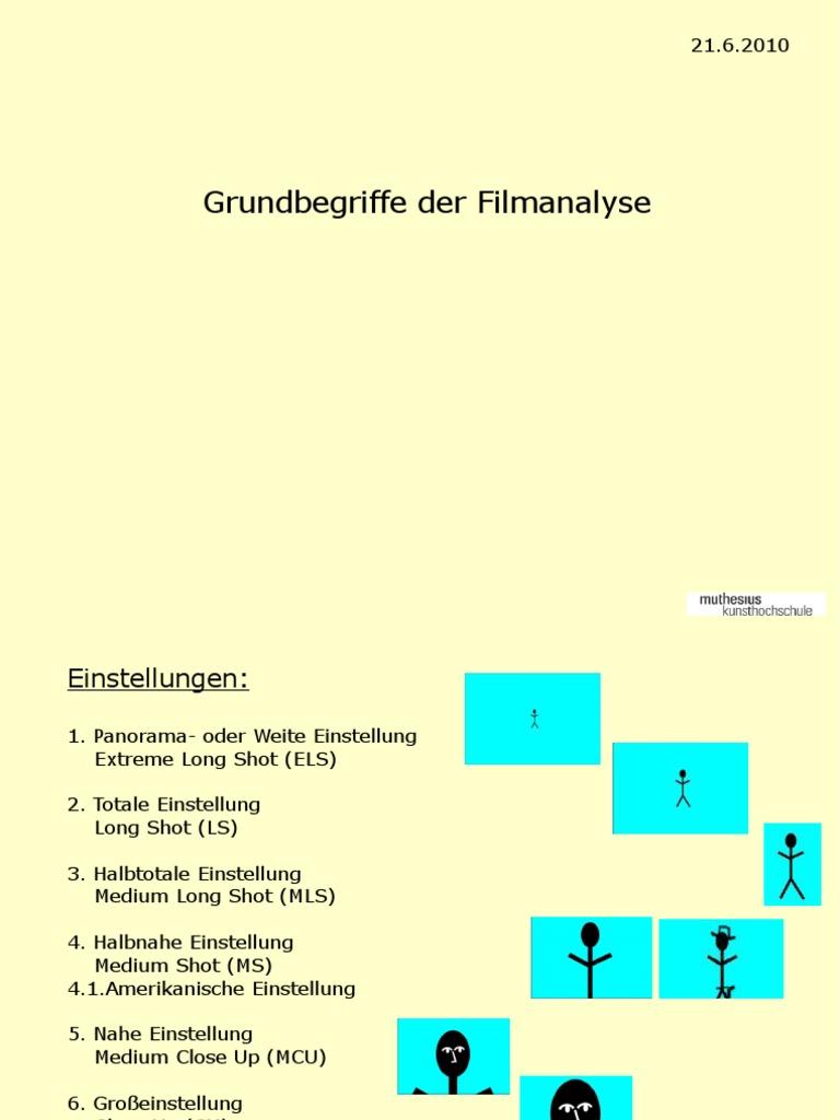 Grundbegriffe Der Film Analyse