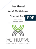 Xeta9 Multi-Layer Ethernet Radio User Manual_Linux