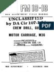 M36 Tank Field Manual FM 18-18 [1944]