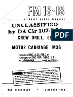 M36 Tank Field Manual FM 18-18 [1944]