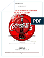 A Project Report On 'PENETRATION OF MANGO DRINKS IN SILIGURI MARKET´