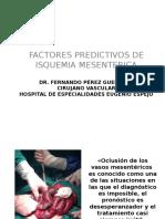 Factores Predictivos en La Isquemia Mesenterica