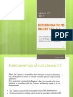 Determination Clauses Under Scl 3.5 - Fidic 1999
