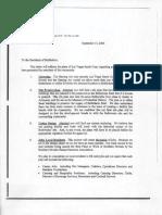 Las Vegas Sands Corp. Letter to residents of Bethlehem 9/14/05