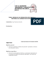 MODELOS DE OPERACIÓN APLICABLES A MOTORES DE COMBUSTION INTERNA.