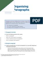 Organising Paragraphs