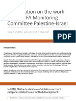 MATF Presentation - Work of FIFA Monitoring Committee