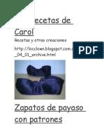 Patron Zapato Payaso