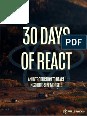 30-days-of-react-ebook-fullstackio pdf   Java Script   Web