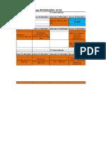 Calendario de Exámenes Primavera 2016