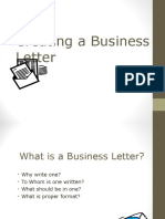 Creating a Business Letter
