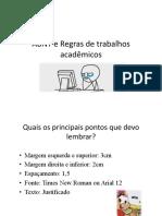 ABNT e Regras de Trabalhos Acadêmicos