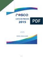 List a Precios 2015 Rosco