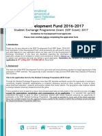 IPSF SEP Grant Application 2016-2017