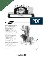 Connaître - Le Lion