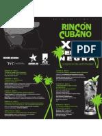 Programa del Rincón Cubano, Semana Negra 2010