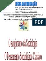 SOCIOLOGIA Da Educacao 2014