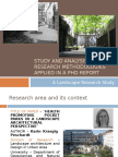 research methodology used in anexample of landscape research