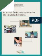Manual Funcionamiento Mesa Electoral