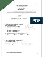 Ficha de Avaliação Diagnóstica Módulo A10 EAC 12º Ano