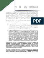 Clasificación de Los Programas Didácticos