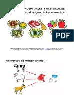 Mapas Conceptuales y Actividades Origen Alimentos (1)