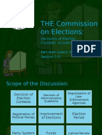 Commission on Elections Report (Karl)