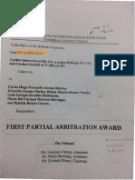 Laudo Arbitral contra CAMINOSCA -Destapa corrupción en Ecuador -