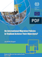 International Migration Policies in Thailand