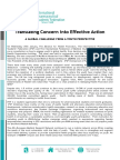 Translating Concern Into Effective Action