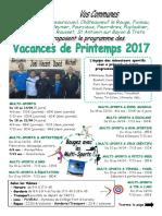 SIHVA Prog Printemps 2017