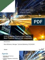 Live2015 - UCS C-Series Deployment Options, Best Practice and UCSM Integration