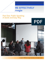 SPEAK MORE EFFECTIVELY - Part One- Public Speaking a Quick and Easy Way by Dale Carnegie (2008)