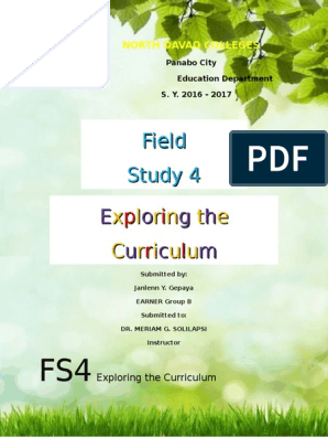 FS4 | Curriculum | Learning Theory (Education)